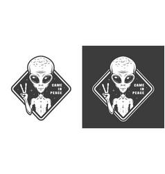 Vintage monochrome space label vector