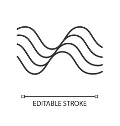 Wavy sound lines linear icon thin line music vector