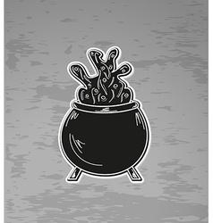 Witchs cauldron vector