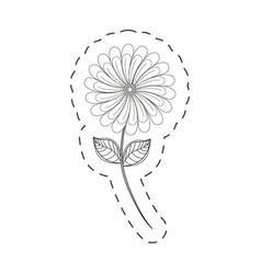 Camomile flower decoration cut line vector