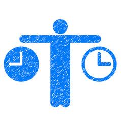 compare time grunge icon vector image