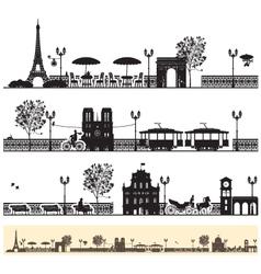 Paris streets vector image vector image