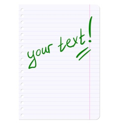 Blank sheets of paper sheet in line vector image