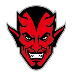 devil head mascot vector image