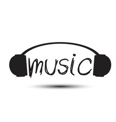 music headphone background image vector image