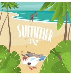 Summer time on the sea vector image