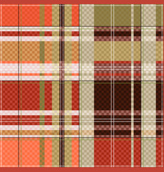 tartan seamless texture mainly in light brown hues vector image