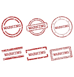 Warning stamps vector image