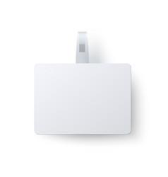 advertising rectangular wobbler isolated on white vector image vector image