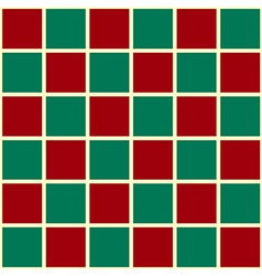 Green Red Grid Chess Board Red Background vector image vector image