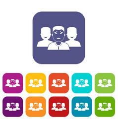 People group icons set flat vector