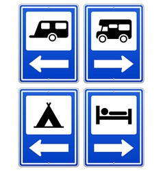 Blue Camp Sign vector image vector image