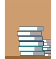 Books on desk back to school education objects vector