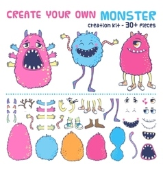 Monster creation kit vector image vector image
