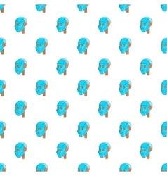 Robotic head pattern cartoon style vector image