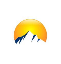 rocky mountain abstract logo vector image