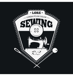 Vintage fashion clothing labels or handmade sewing vector image vector image