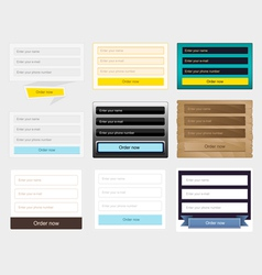 Web forms collection vector image