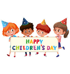 A childrens day template vector