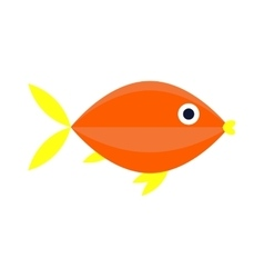 Abstract aquarium fish underwater nature vector