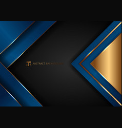 Abstract elegant blue geometric overlap layers vector