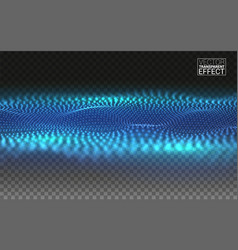 abstract linear 3d landscape points blended mesh vector image