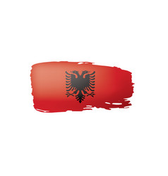 albania flag on a white vector image