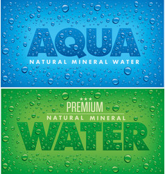 Aqua mineral water background with drops vector