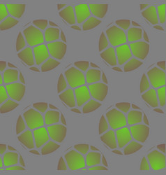 ball print seamless pattern with green grunge vector image