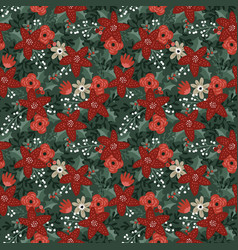 beautiful christmas seamless pattern vector image