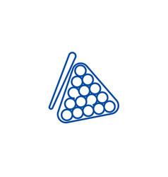 billiards line icon concept billiards flat vector image