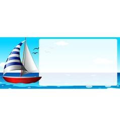 Border design with sailboat vector