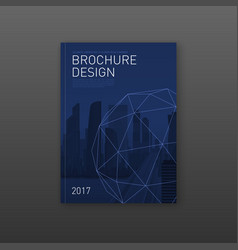 brochure cover design template for architecture vector image