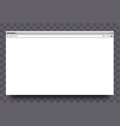browser window website page web window vector image