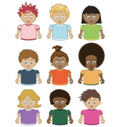 Children icons vector