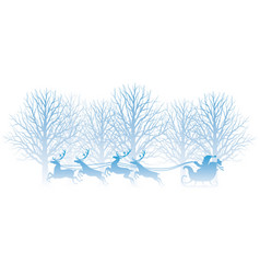 christmas with forest vector image