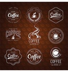 Coffee label3 vector