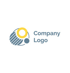 creative idea for company label logotype vector image