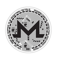 Crypto currency monero black and white symbol vector