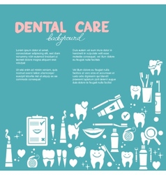 Dental care background vector image
