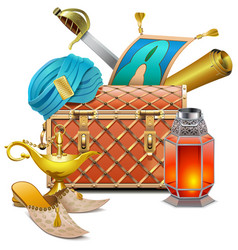eastern chest vector image