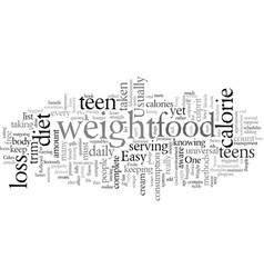 easy free loss teen weight vector image