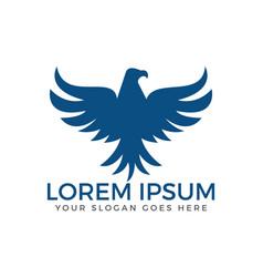 elegant hawk logo design vector image