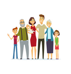 Family - coloured modern flat vector
