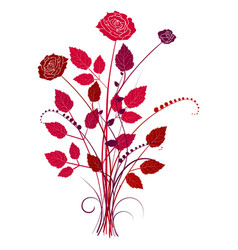Floral background roses vector