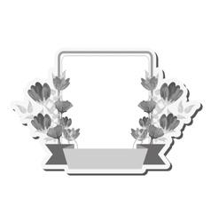 Flower frame icon vector