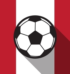 football icon with Canada flag vector image