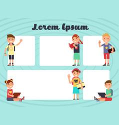 fun frames kids layout texting brochure vector image vector image