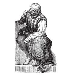 germain pilon vintage vector image