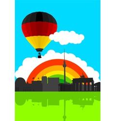 Germany Flag Air Balloon vector image